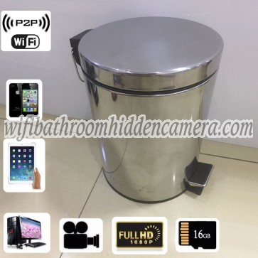 Best Wireless Spy Camera HD 1080P Hidden Trash Can Camera For iOSAndriod System