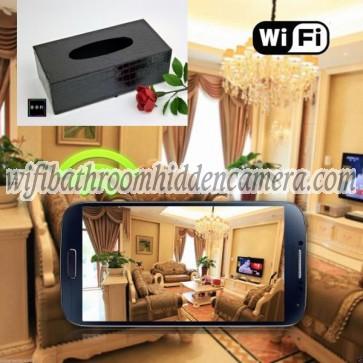Cheap Spy Cameras Wireless HD 1080P Hidden Toilet Tissue Box Camera For iOSAndriod System