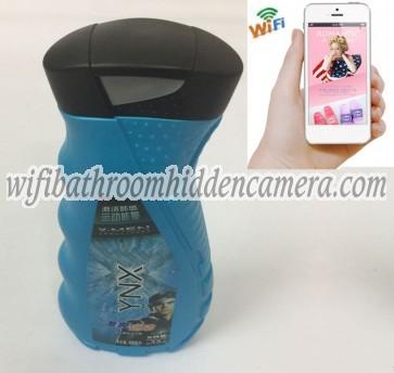 Covert Wifi Camera HD 1080P Spy Bathroom shampooshower gel Camera For iOSAndriod System
