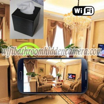 Hidden Wireless Ip Camera HD 1080P Hidden Toilet Tissue Box Camera For iOS/Andriod System