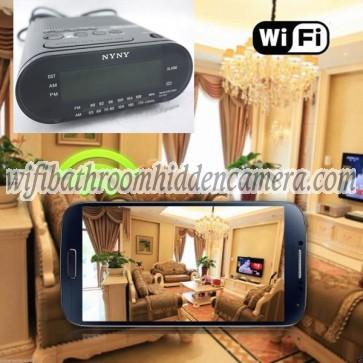 Indoor Spy Camera Wireless HD 1080P Hidden Hotel Clock Radio Camera For iOSAndriod System