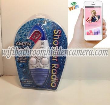 Live Wifi Spy Camera HD 1080P Hidden Bathroom Shower Radio Camera For iOSAndriod System