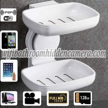 Micro Hidden Camera Wireless HD 1080P Spy Bathroom Soap BoxDish Camera For iOSAndriod System