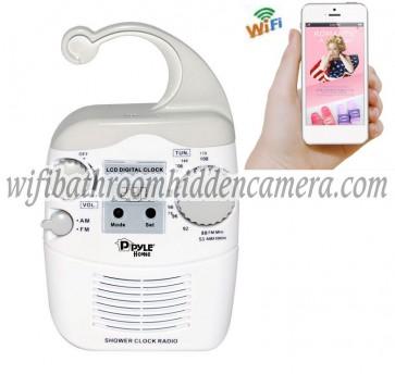 Pinhole Spy Camera Wifi HD 1080P Hidden Bathroom Shower Radio Camera For iOSAndriod System