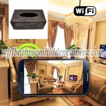 Spy Camera Recorder Wireless HD 1080P Hidden Toilet Tissue Box Camera For iOSAndriod System