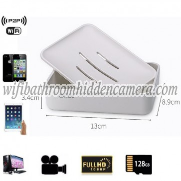 Spy Wireless Camera With Internet HD 1080P Spy Bathroom Soap BoxDish Camera For iOSAndriod System