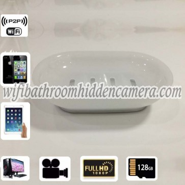 Tiny Hidden Cameras Wireless HD 1080P Spy Bathroom Soap BoxDish Camera For iOSAndriod System