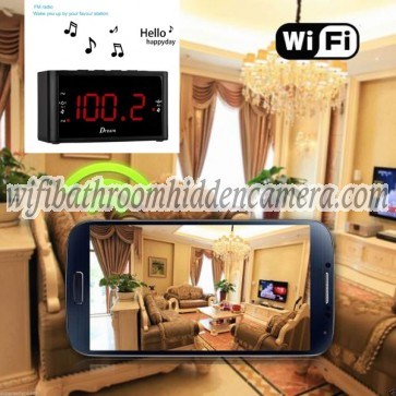 Tiny Wireless Camera HD 1080P Hidden Hotel Clock Radio Camera For iOSAndriod System