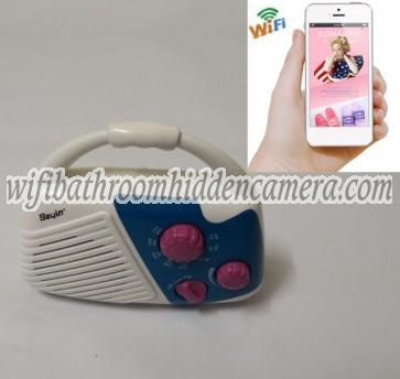 Wifi Enabled Hidden Camera HD 1080P Hidden Bathroom Shower Radio Camera For iOSAndriod System