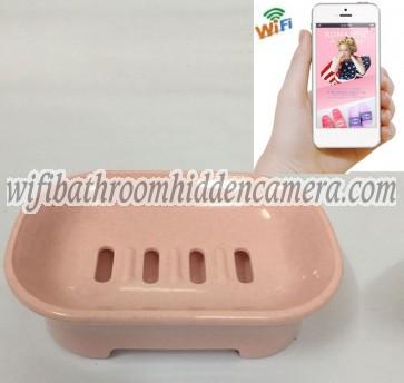 Wifi Remote Wireless Ip Hidden Camera HD 1080P Spy Bathroom Soap BoxDish Camera For iOSAndriod System