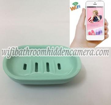Wireless Hidden Camera System HD 1080P Spy Bathroom Soap BoxDish Camera For iOSAndriod System