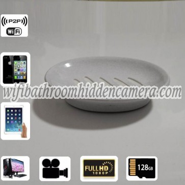 Wireless Internet Spy Camera HD 1080P Spy Bathroom Soap BoxDish Camera For iOSAndriod System