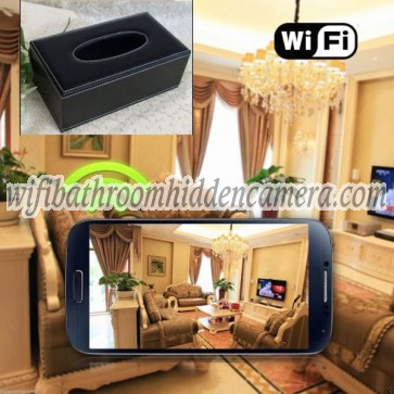 Wireless Ip Hidden Camera With Internet View HD 1080P Hidden Toilet Tissue Box Camera For iOSAndriod System