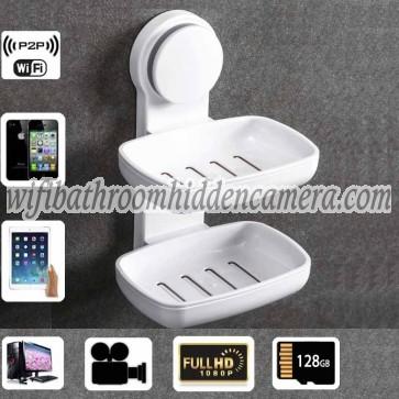 Wireless Spy Camera For Iphone HD 1080P Spy Bathroom Soap BoxDish Camera For iOSAndriod System