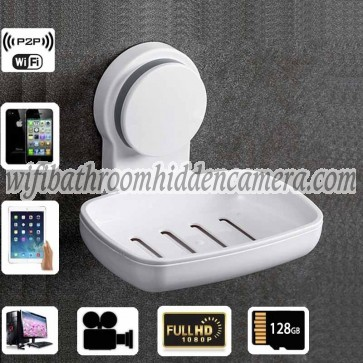Wireless Spy Video Camera HD 1080P Spy Bathroom Soap BoxDish Camera For iOSAndriod System