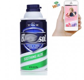 Best Hidden Wifi Camera HD 1080P Hidden Bathroom Shaving Cream Bottle Camera For iOSAndriod System