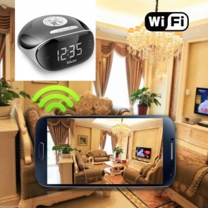 Best Wireless Hidden Camera HD 1080P Hidden Hotel Clock Radio Camera For iOSAndriod System