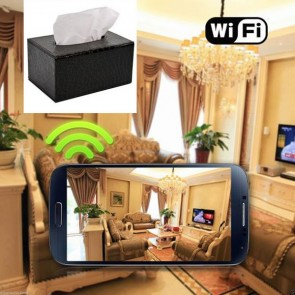 Cheap Small Spy Cameras Wireless HD 1080P Hidden Toilet Tissue Box Camera For iOSAndriod System
