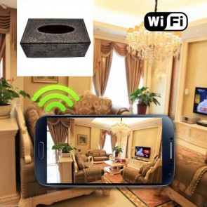 Spy Camera Recorder Wireless HD 1080P Hidden Toilet Tissue Box Camera For iOSAndriod System