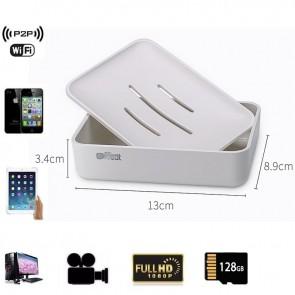 Spy Wireless Camera With Internet HD 1080P Spy Bathroom Soap BoxDish Camera For iOSAndriod System