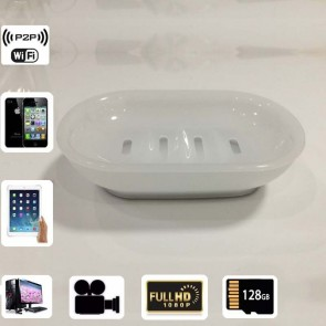 Tiny Hidden Cameras Wireless HD 1080P Spy Bathroom Soap BoxDish Camera For iOSAndriod System