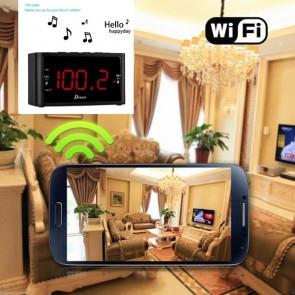 Tiny Wireless Camera HD 1080P Hidden Hotel Clock Radio Camera For iOSAndriod System
