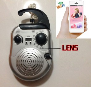 Wifi Spy Camera HD 1080P Hidden Bathroom Radio Camera For iOSAndriod System