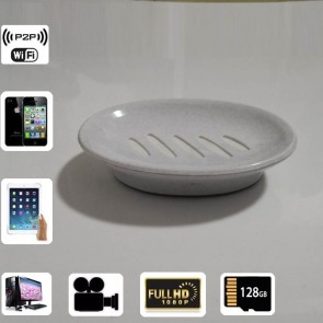 Wireless Internet Spy Camera HD 1080P Spy Bathroom Soap BoxDish Camera For iOSAndriod System